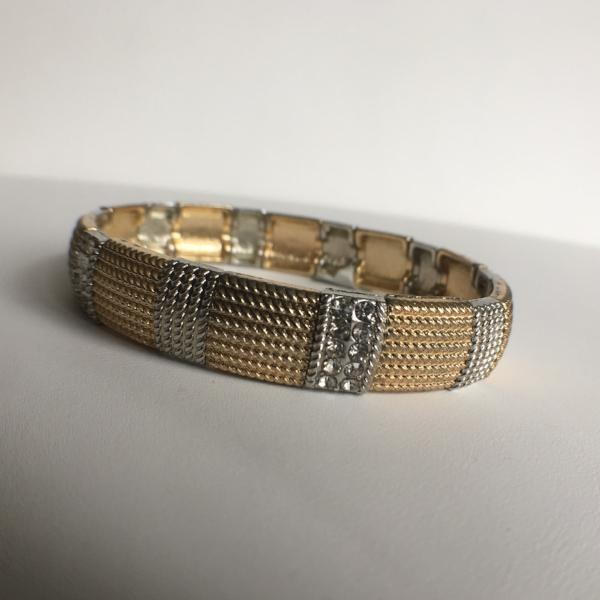 Two Tone Stretch Bracelet