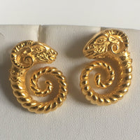 Rams Head earrings, posts