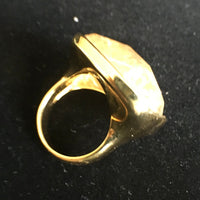 18K Gold Plated Rutilated Quartz Ring