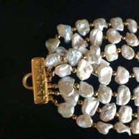 Petite Baroque Pearl and Pyrite Necklace