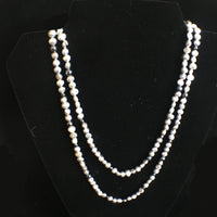 Pearl and Hematite Double Strand Necklace