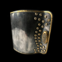 Two-tone Designer Cuff with Cufflink Closure