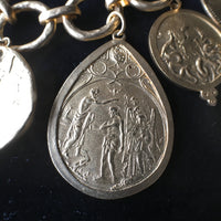 Mixed Metal Coin Charms Bracelet