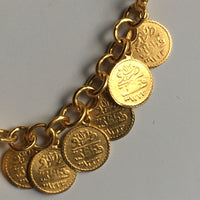 Mixed Metal Cluster of Coins Bracelet