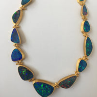 Show Stopping Australian Black Opal Necklace