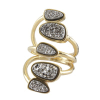 18K Gold Plated Layered Druise Ring
