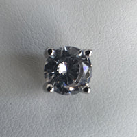Brilliant Cut CZ Stud Earrings