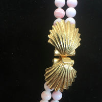 "Double Strand 30"" Pink Pearl Necklace"