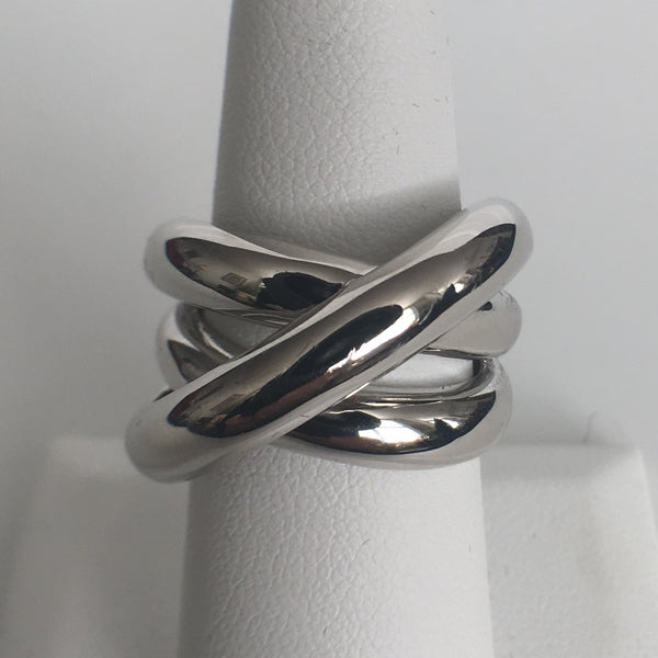 Triple Swirl Silver Ring