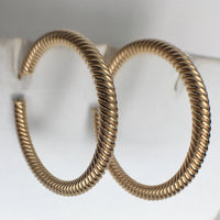 Twisted Rope 14K Hoops