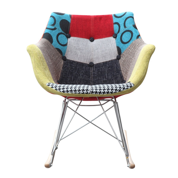Jenny Patches Rocker Arm Chair