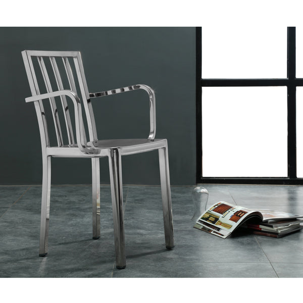 201 Steel Dining Chair with Arms