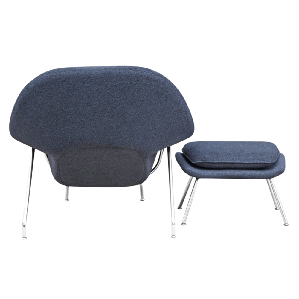 Woom Chair and Ottoman in Wool