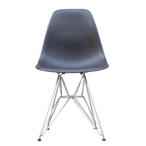 Molded Plastic Eiffel Wire-Base Chair
