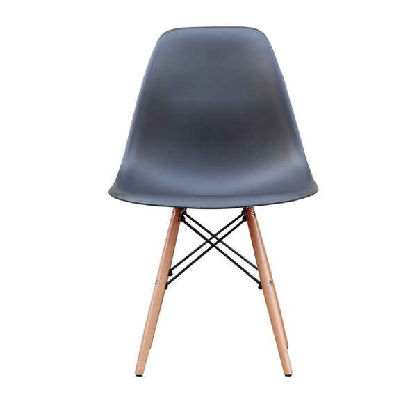 Molded Plastic Dowel-Leg Chair