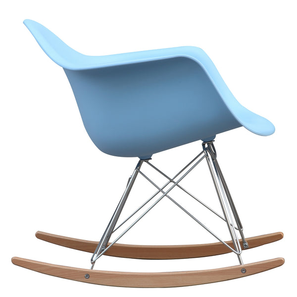 Molded Plastic Rocker Arm Chair