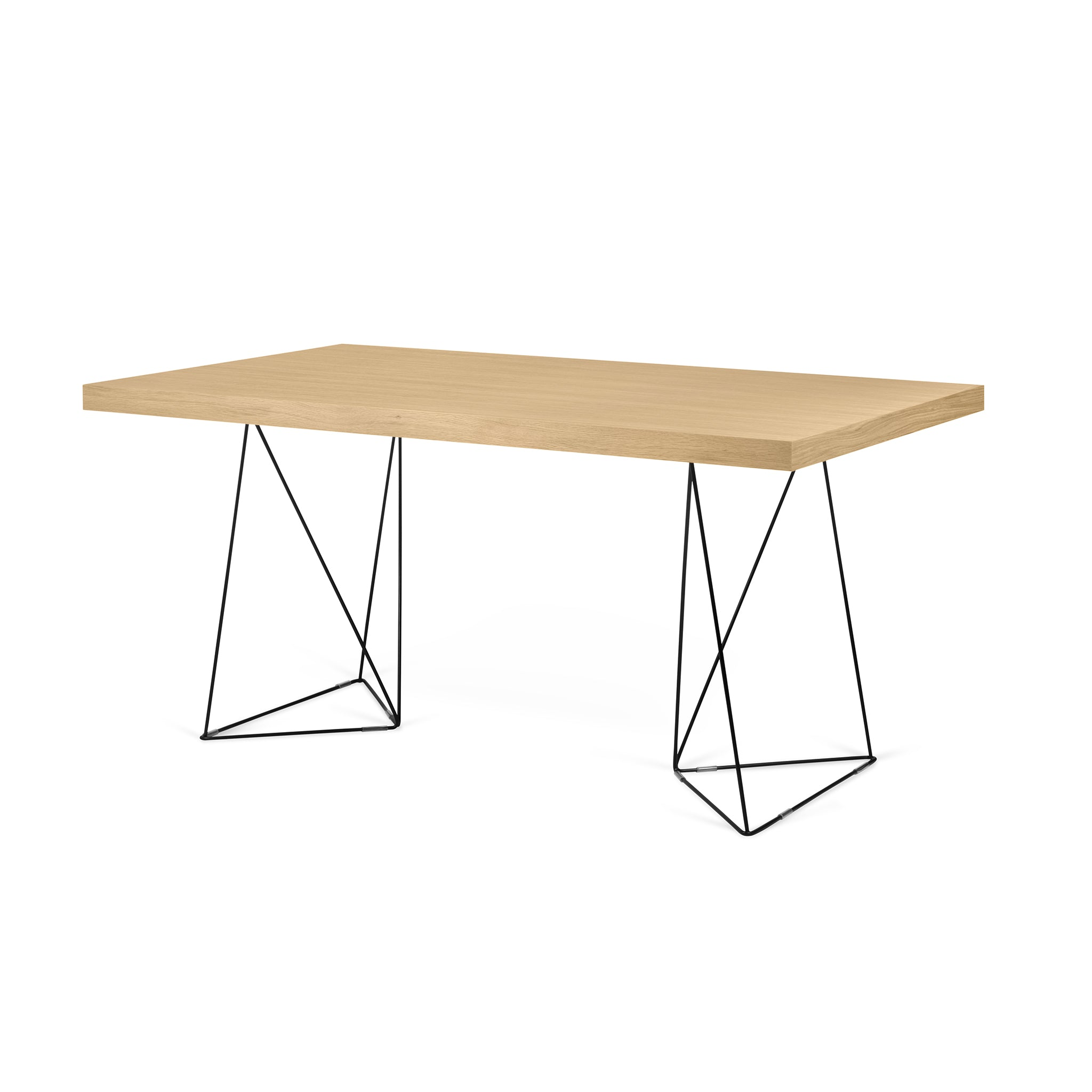 Multi 71 Table with Black Trestle Legs