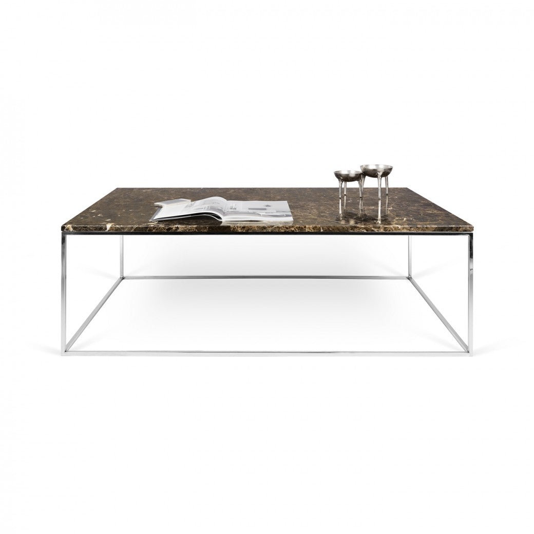Gleam Rectangle Marble Coffee Table
