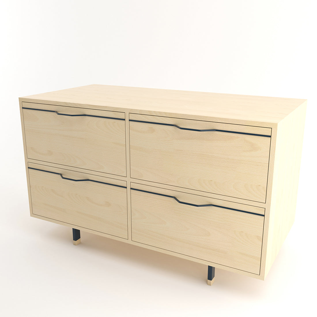 Chapman Maple Double Unit Storage Cabinet w/ Drawers
