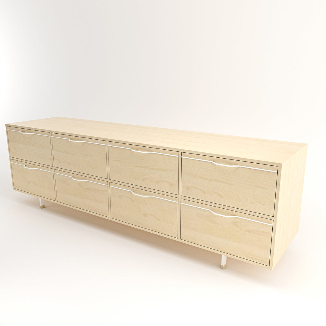 Chapman Maple Large Credenza Storage Unit w/ Drawers
