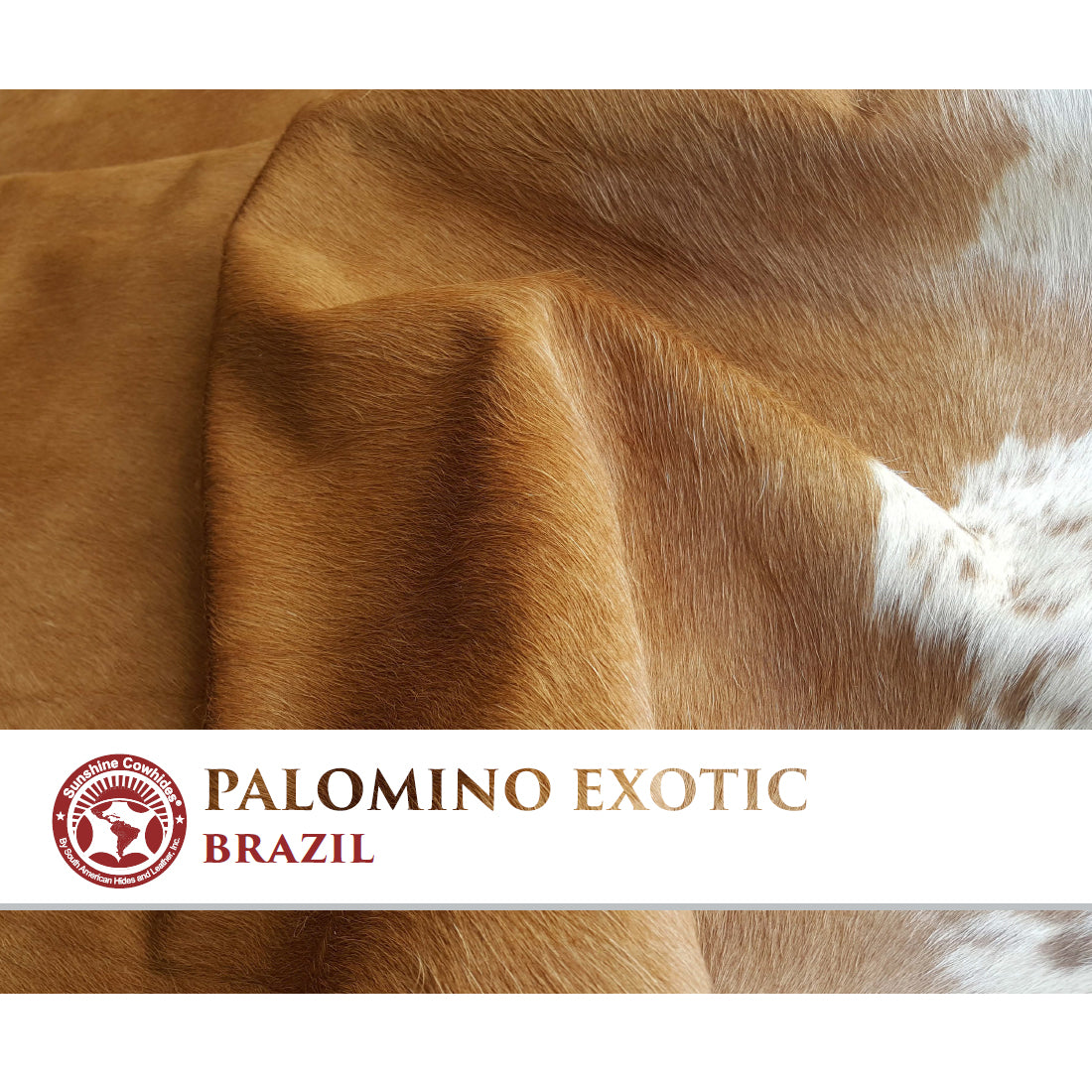 Natural Cowhide Rug - Palomino Exotic
