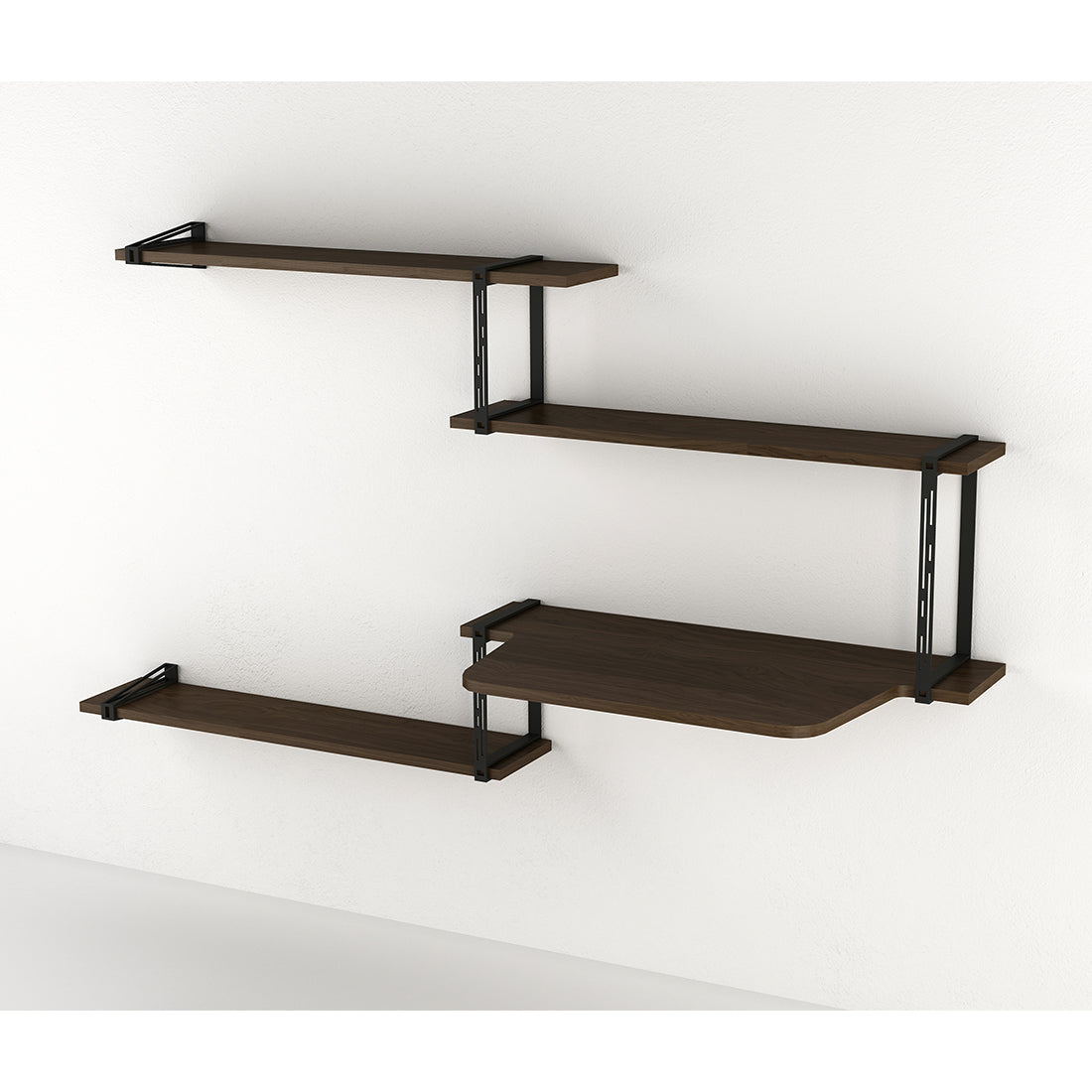 Evans Shelving System - Package D w/ Desk
