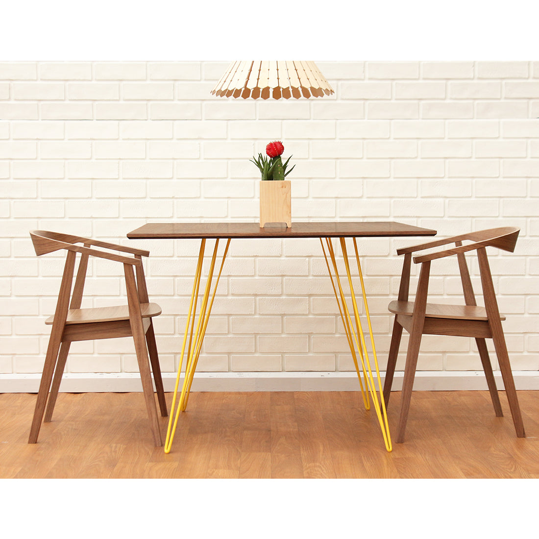 Williams Walnut Small Square Dining Table