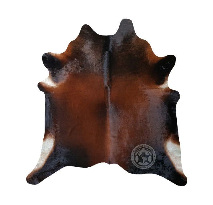 Natural Cowhide Rug - Dark Tones