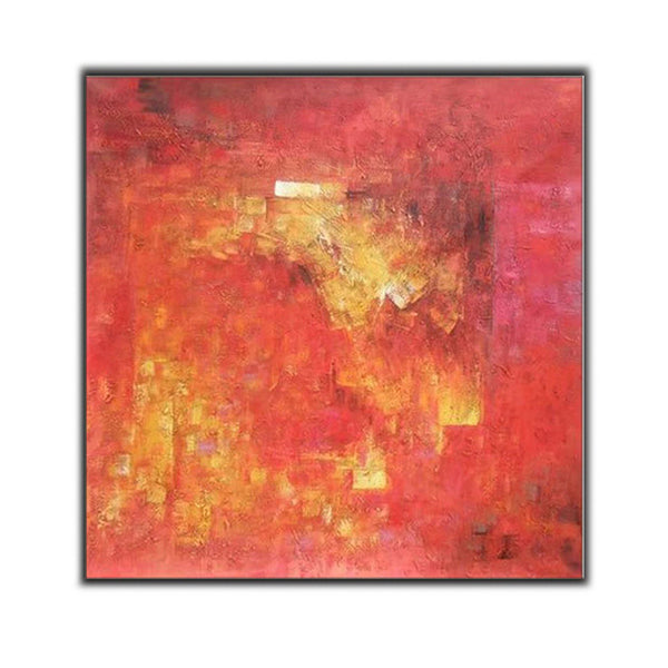 Orange and Yellow ORIGINAL Modern Abstract Painting