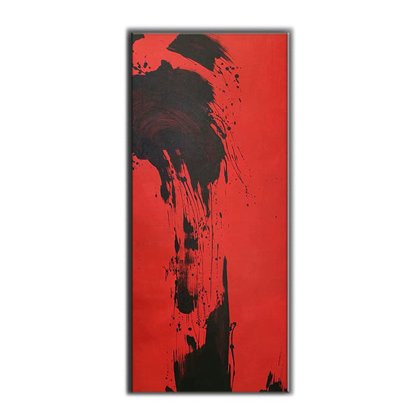 Red and Black ORIGINAL Modern Abstract Painting