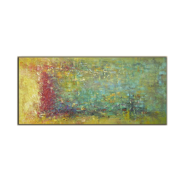 Yellow, Red, and Green ORIGINAL Modern Abstract Painting
