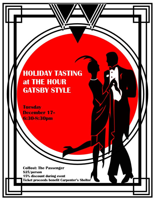 HOLIDAY TASTING PARTY GATSBY STYLE!