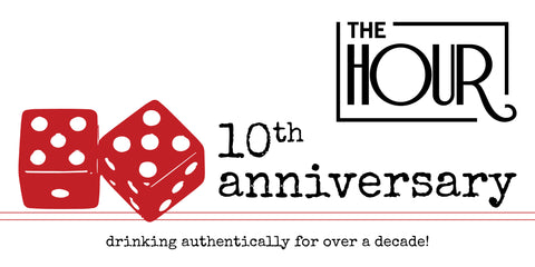 The Hour 10th Anniversary Party Dice Logo