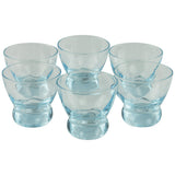 Eva Zeisel Blue Swirl Mid Century Vintage Cocktail Glasses | The Hour Shop