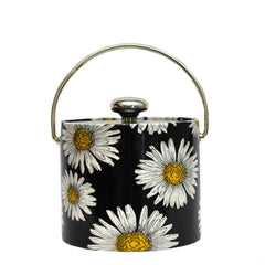 Vintage Black & White Daisy Ice Bucket | The Hour Shop