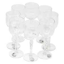 Vintage Glastonbury Glass Company Crystal Etched Wheat Cordial Glasses | The Hour Shop