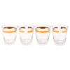 Vintage Gold Band Glasses Set rocks | The Hour Shop