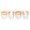 Vintage Gold Band Glasses Set shots | The Hour Shop
