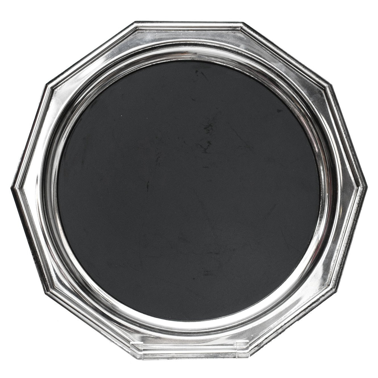 Sheffield Black & Silverplate Tray, The Hour Shop Vintage Barware