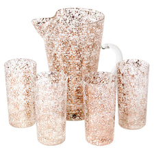 Gold & White Splatter Cocktail Pitcher Set
