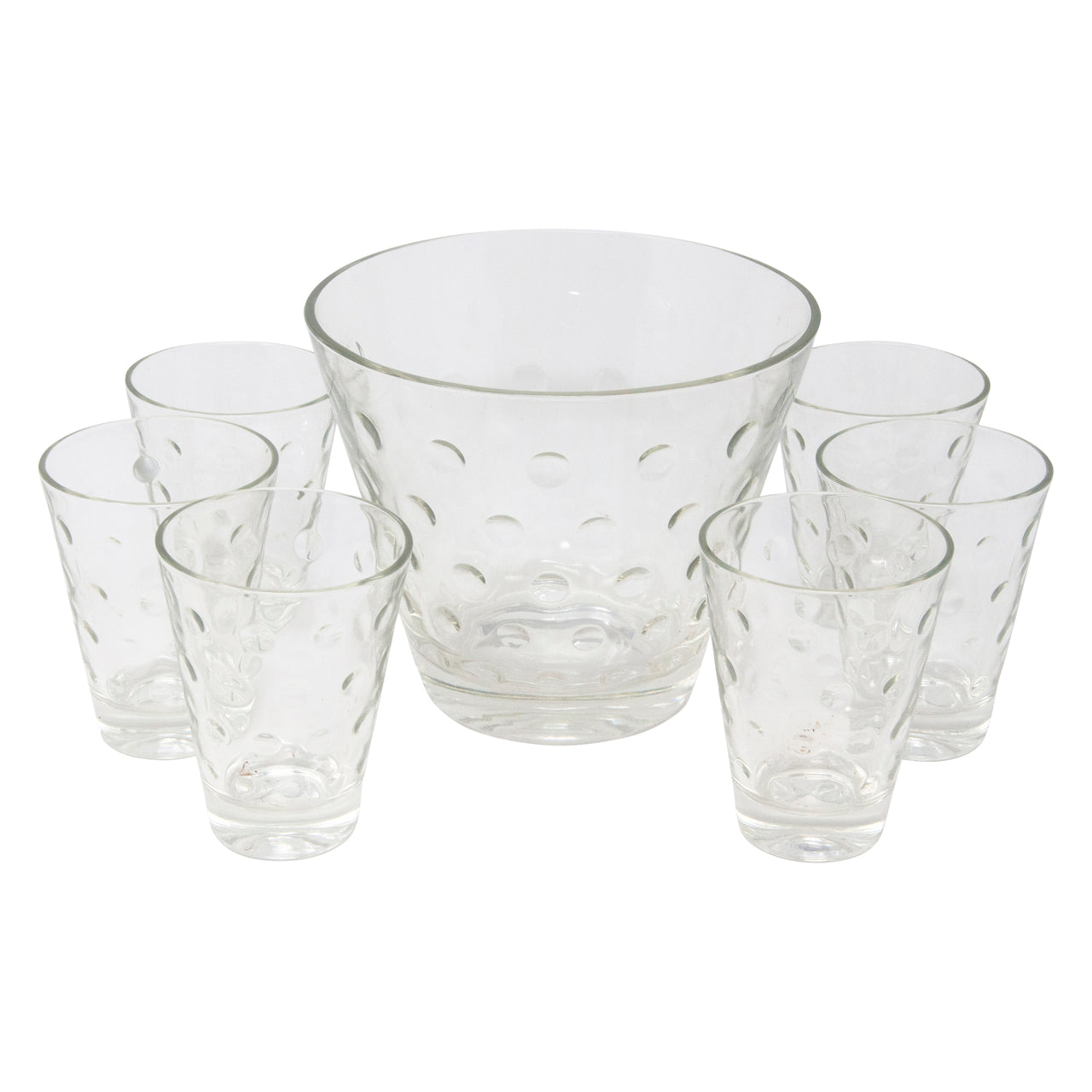 Vintage Hazel Atlas Clear Capri Dot Ice Bucket Set | The Hour Shop