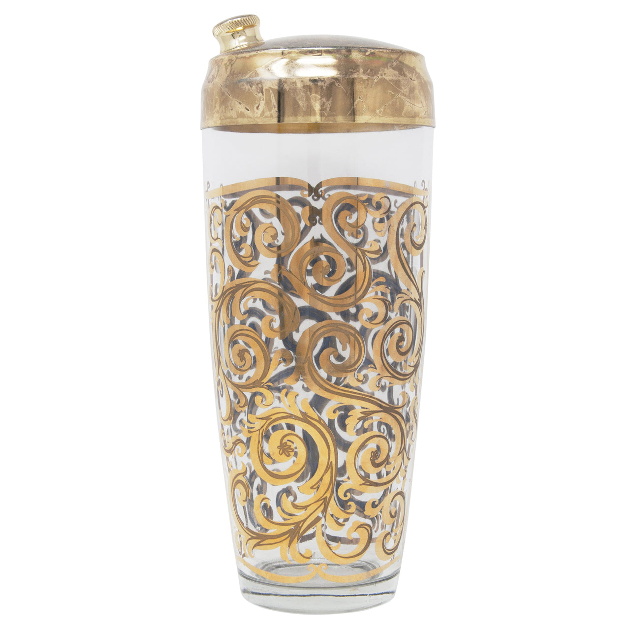 Vintage Gold Scroll Cocktail Shaker | The Hour Shop