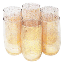 Vintage Gold Splatter Round Base Collins Glasses | The Hour