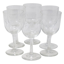 Vintage Etched Bamboo Sherry Glasses | The Hour Shop