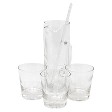 Vintage Etched Wheat Cocktail Pitcher Set | The Hour Shop