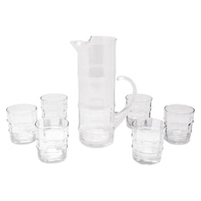 Vintage West Virginia Glass Bamboo Cocktail Pitcher Set | The Hour Shop