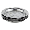 Vintage Art Deco Round Chase Chrome Coaster Stack | The Hour