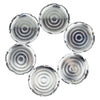 Vintage Art Deco Round Chase Chrome Coaster Set | The Hour