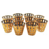 Vintage Culver Gold Pisa Rocks Cocktail Glasses, The Hour Shop