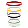 Vintage Hand Painted Multi-Color Rings Cocktail Shaker Set Glass | The Hour Shop